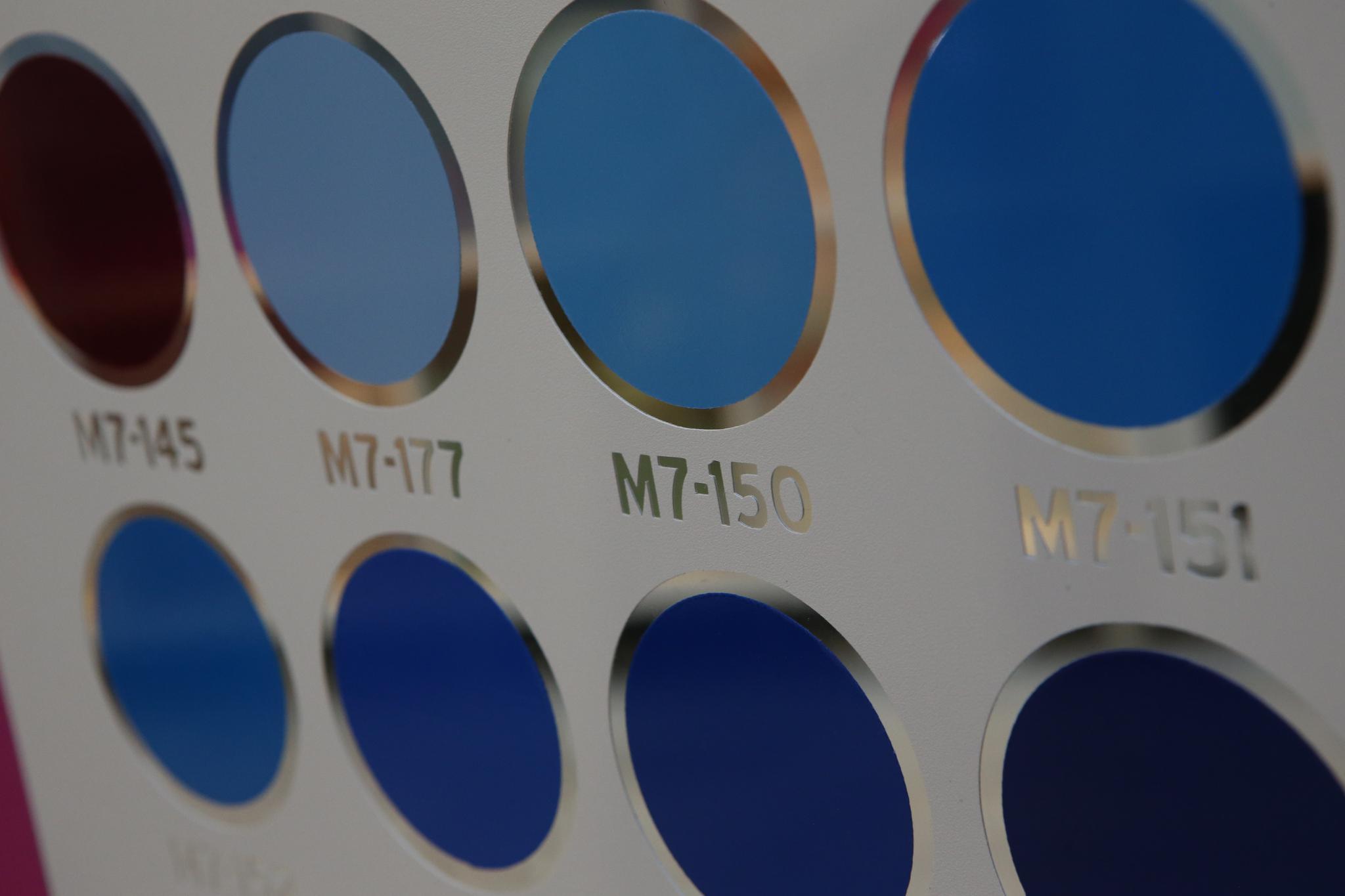 Colour chart - blue