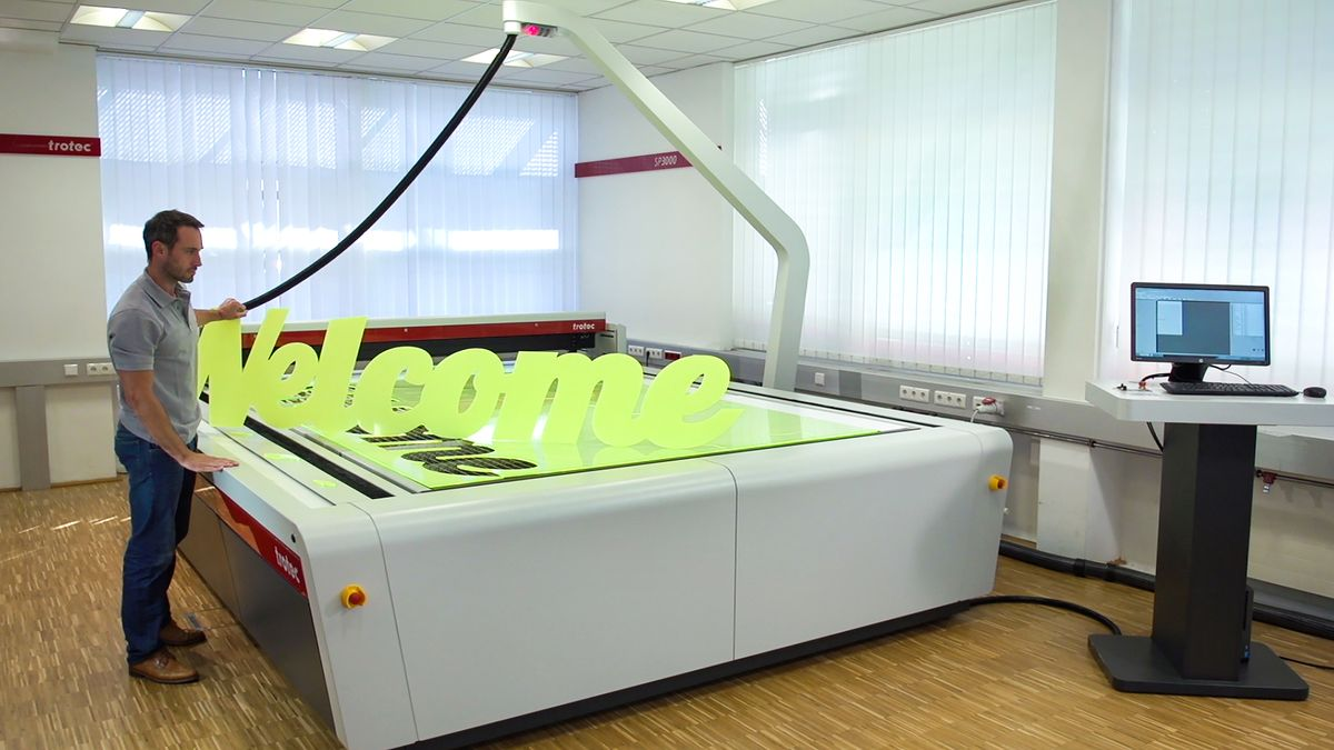 Reach new business heights with Trotec'sSP2000 large format laser cutter