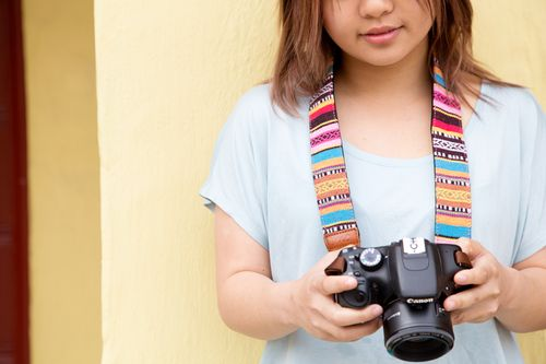 iMo camera strap padded with neoprene