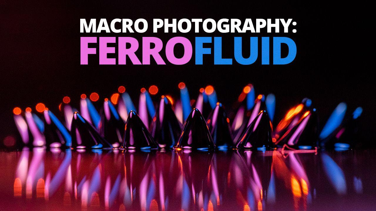 Photographing Ferrofluid using the Adaptalux Studio