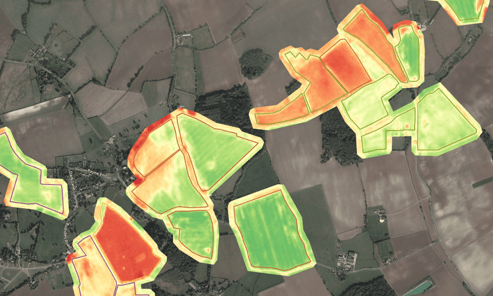 Using satellite NDVI imagery for remote crop monitoring