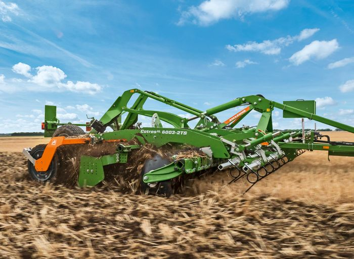 AMAZONE show new compact disc harrows for mixing in large volumes of organic matter at high work rates