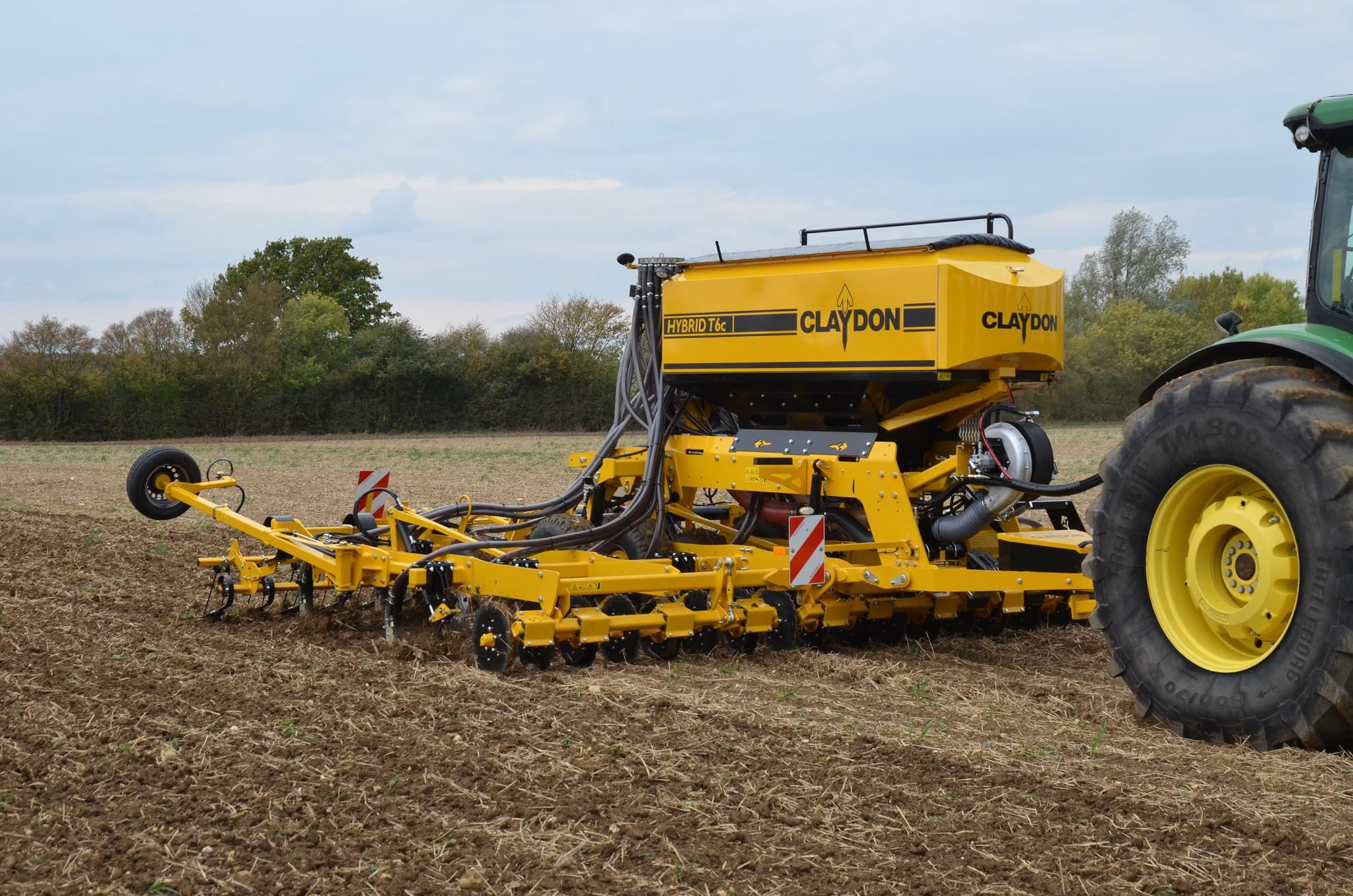 NEW 6M CLAYDON HYBRID T6C COMPACT TRAILED DRILL TO BE SHOWN AT CEREALS 2019