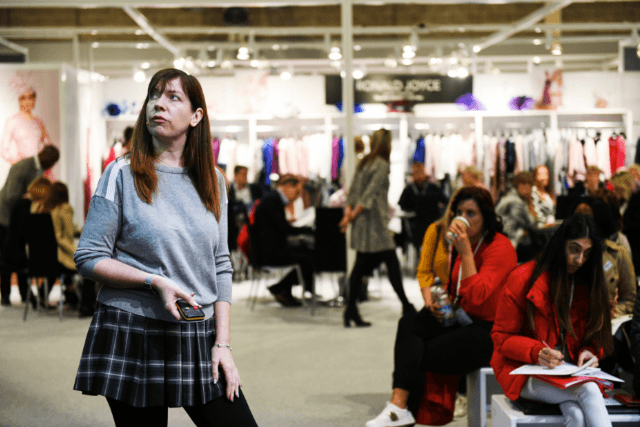 Amy Hobson speaking at Moda AW19