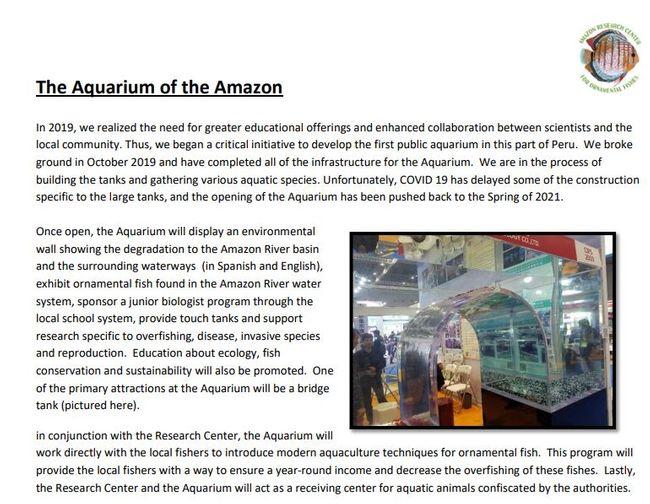 ARCOF Aquarium of the Amazon