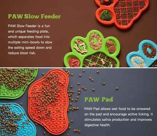 PAW Slow Feeder and Lick PAW Pad