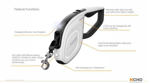 2019 new upgraded LED Retractable Leash