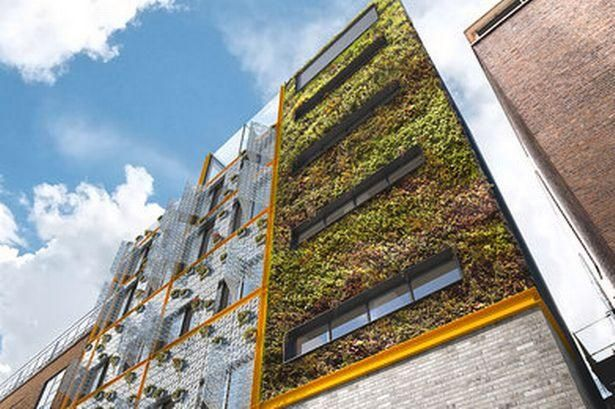 Living wall made of waste planned for London