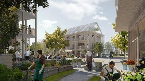Self-sufficient village plan in Sweden inspired by computer games and organic cooking