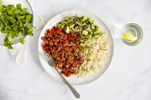RECIPE: Pulled barbecue jackfruit & avocado salsa