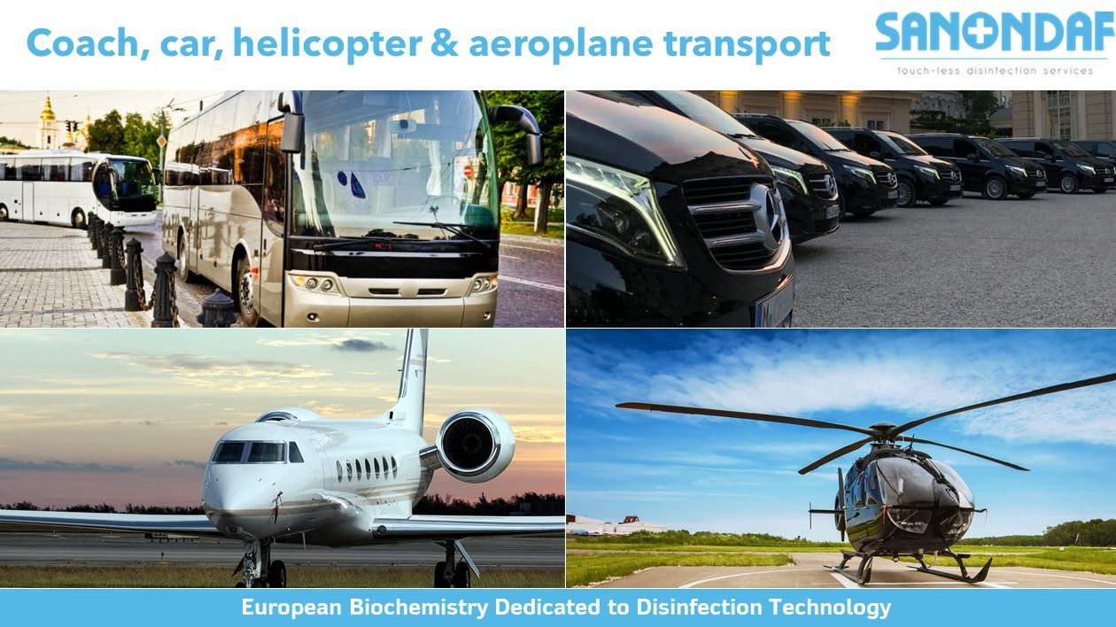 coach car helicopter and areoplane