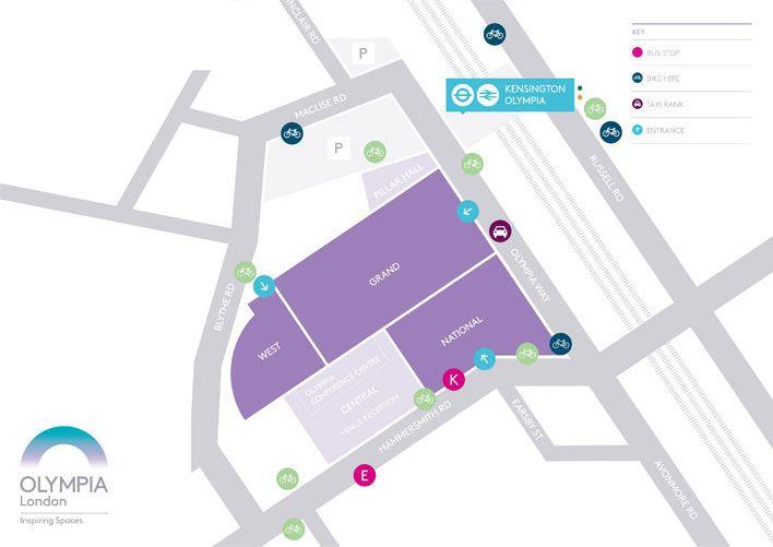 olympia london map