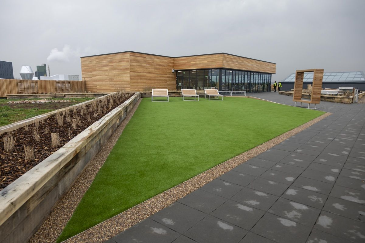 IKEA Greenwich rooftop garden scoops UK Roofing Award with natural green roof and artificial grass in unison
