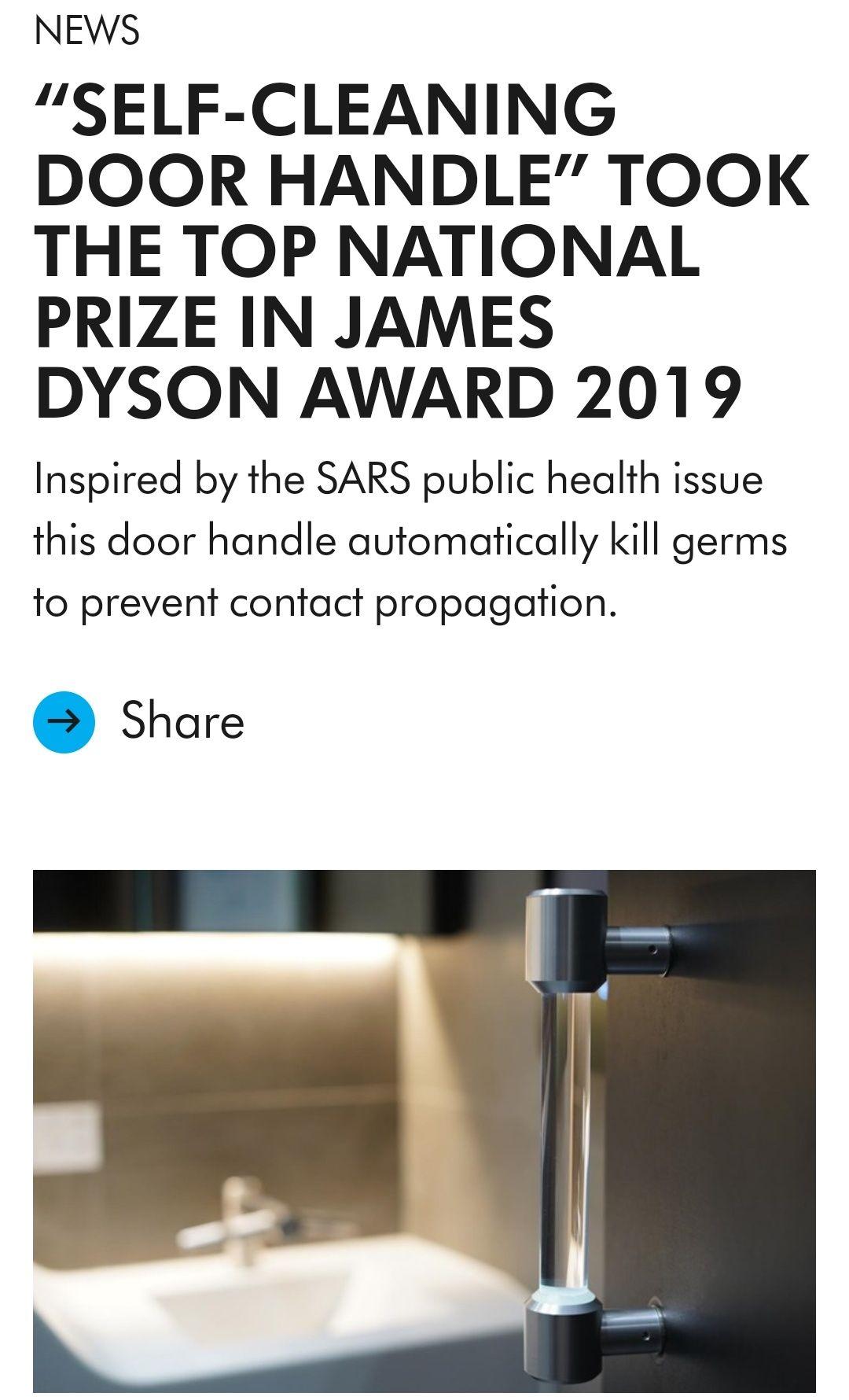 Self-sanitizing Door Handle