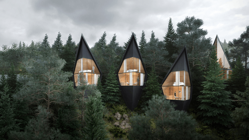 Peter Pichler designs Tree House hotel rooms for forest in the Italian Dolomites | Construction Buzz #207