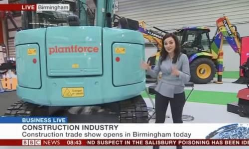 BBC Breakfast at UK Construction Week 2018