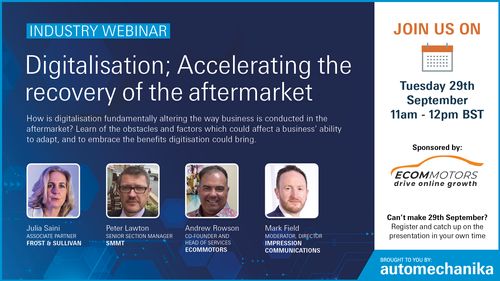 Retail and ecommerce expert joins industry panel for latest webinar on aftermarket digitalisation
