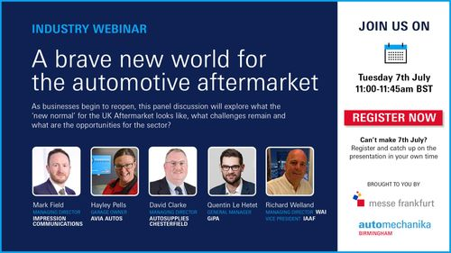 Automechanika Birmingham launches series of industry led webinars