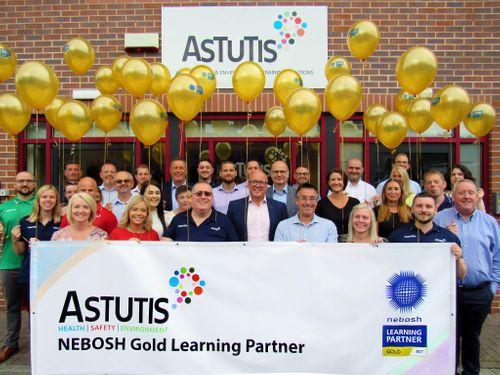Astutis achieves prestigious NEBOSH Gold Learning Partner Status