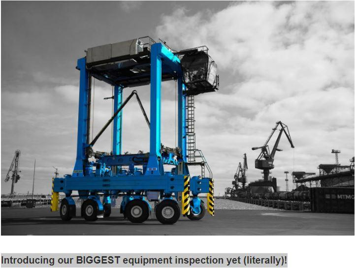 Introducing our BIGGEST equipment inspection yet (literally)!
