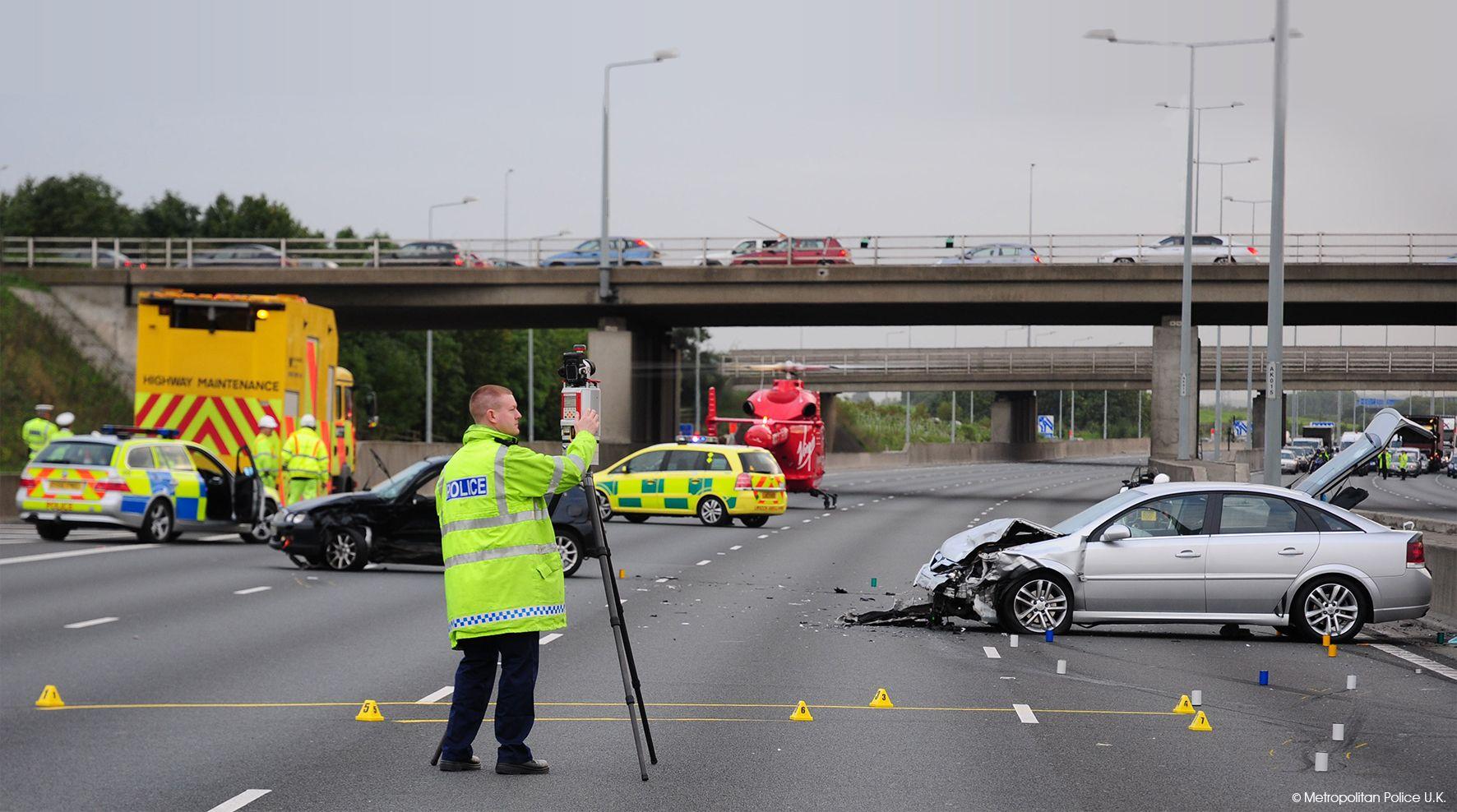 The RIEGL VZ-400i LiDAR solution for fast and efficient crash scene investigation