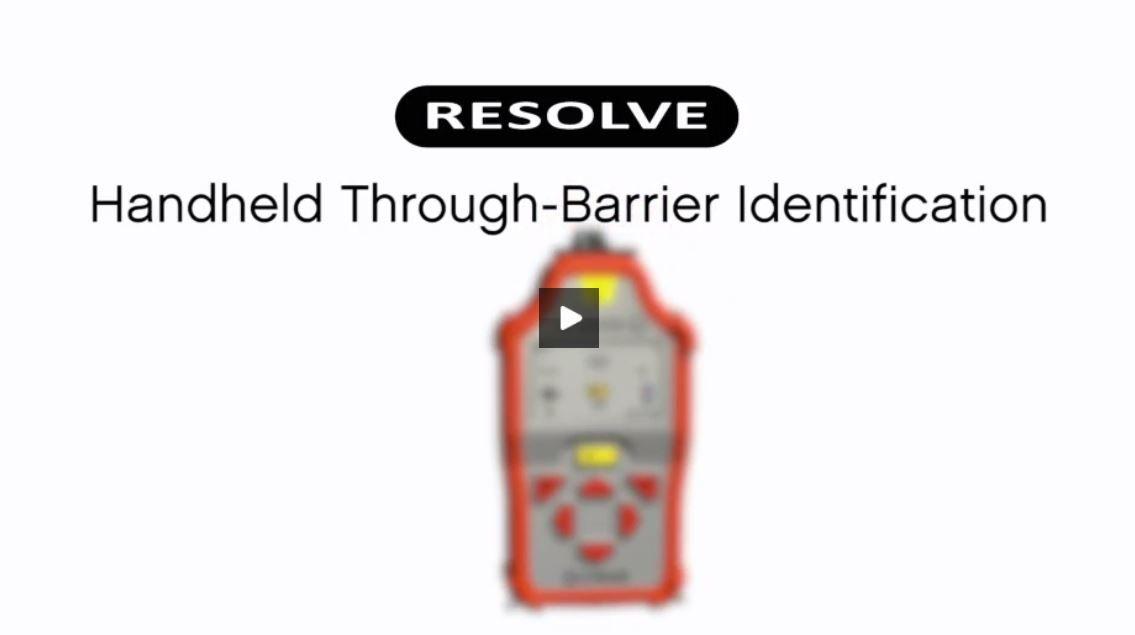 Resolve Handheld Raman Analyzer for Through-Barrier Chemical Identification