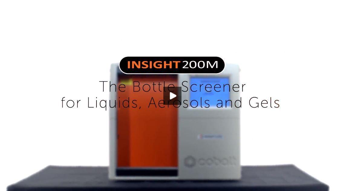 Bottle Scanner for Liquids, Aerosols and Gels using Insight200M