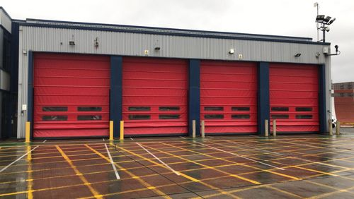 Installation of High Speed Doors at London City Airport fire station