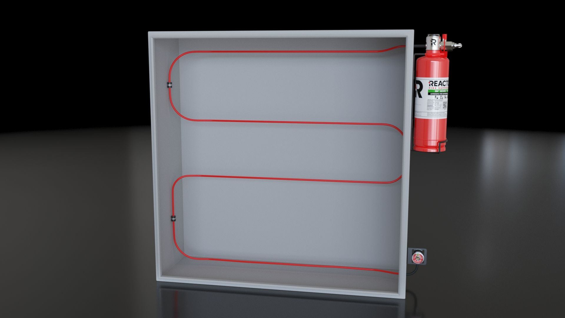 Direct Low Pressure Reacton Fire Suppression System