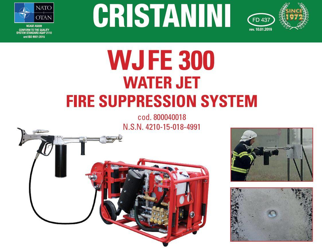 WJFE 300 - WATER JET FIRE SUPPRESSION SYSTEM WITH WATER MIST TECHNOLOGY