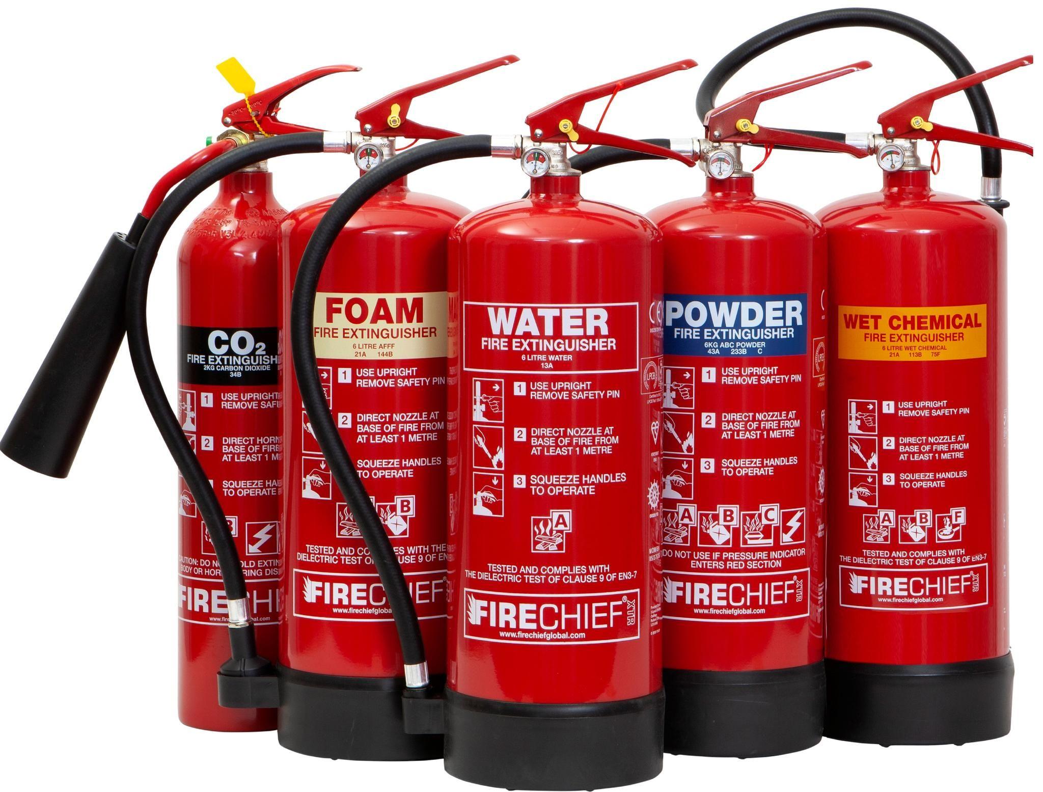 The Firechief XTR Fire Extinguisher Range