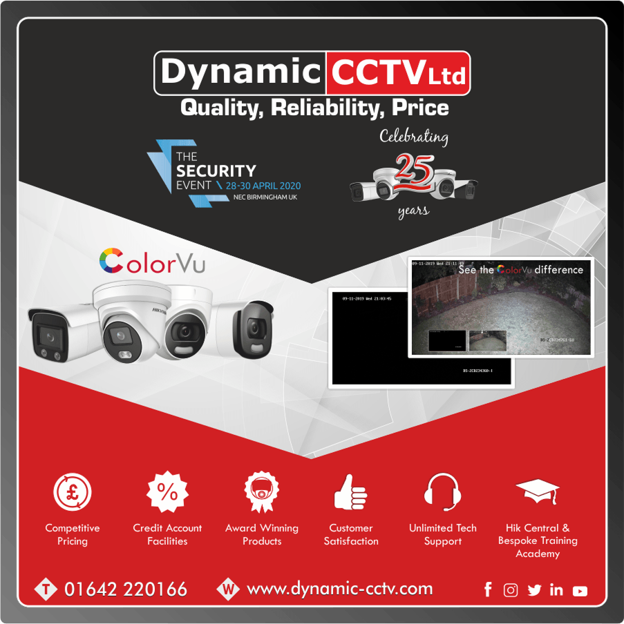 Hikvision ColorVu Cameras stocked by Dynamic CCTV