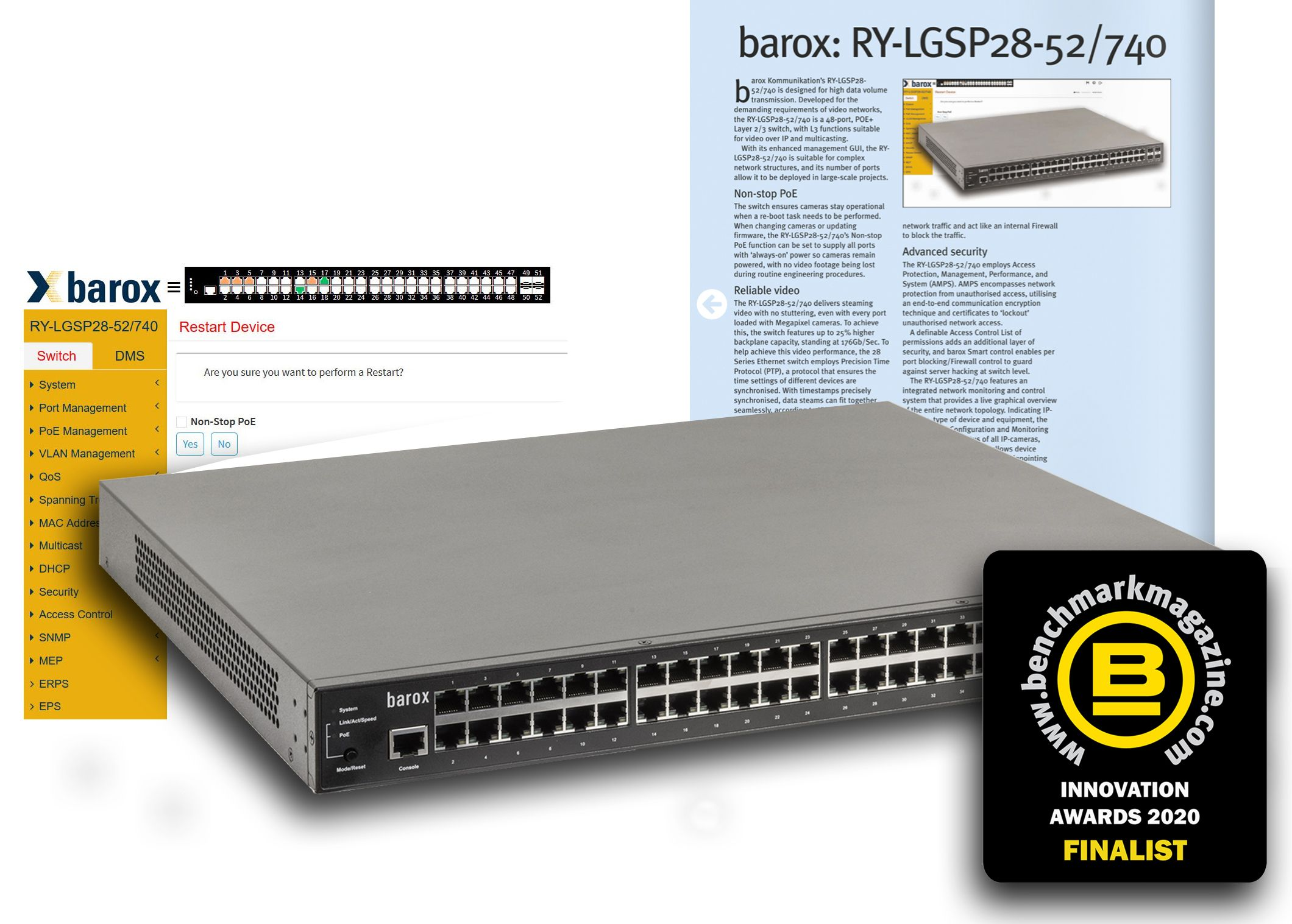 barox - Switches made for Video - finalist @ Benchmark Innovation Awards 2020