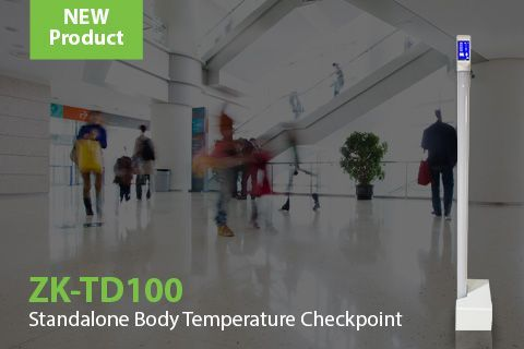 ZK-TD100 ZKTeco's Access Control checkpoint with body temperature measurement