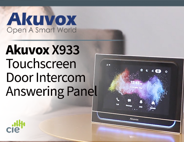 Akuvox X933 Luxury Door Intercom Answering Panel for apartments and residential