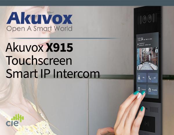 Akuvox X915 Touchscreen Smart Door Intercom with contactless ID credentials