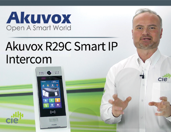 Akuvox R29C Smart IP Intercom - with face recognition & QR code access