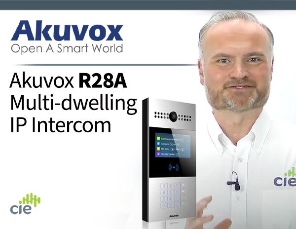 Akuvox R28A Multi-dwelling SIP Intercom with Numeric Keypad, Camera, RFID & IP65