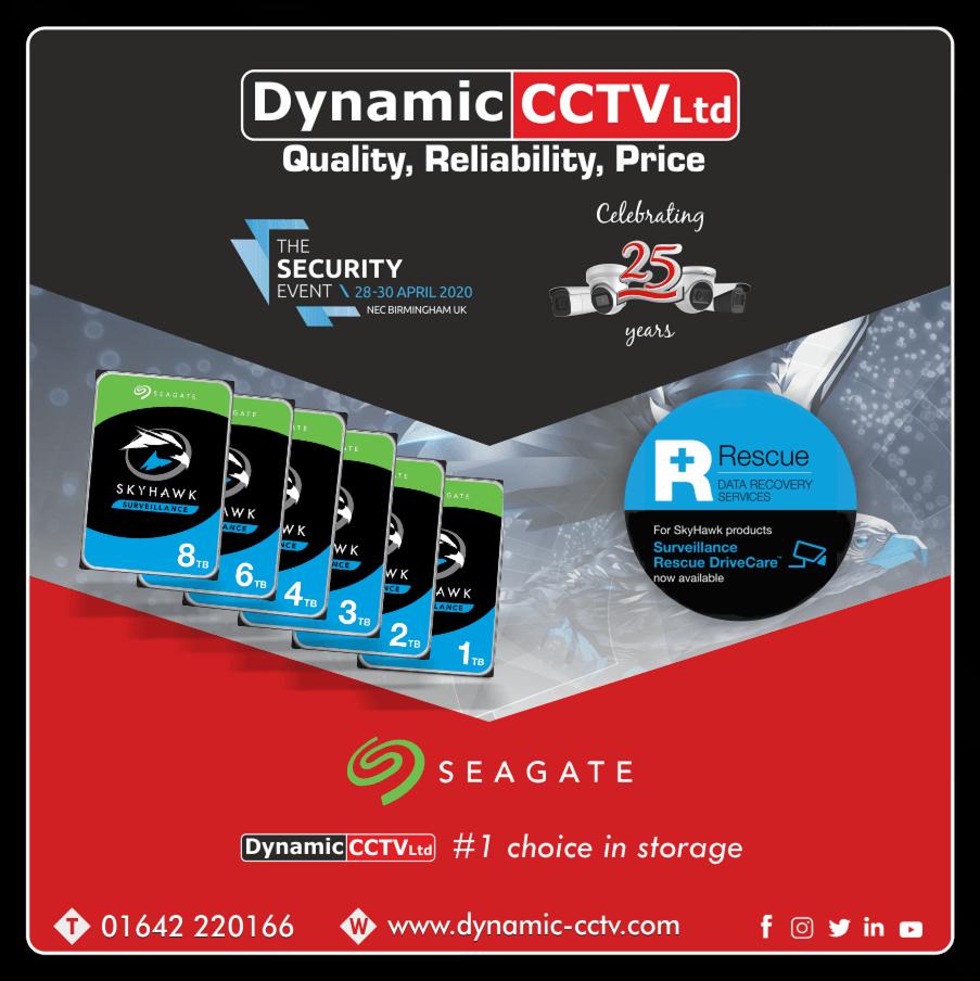 Dynamic CCTVs chosen storage for solutions - Seagate SkyHawk