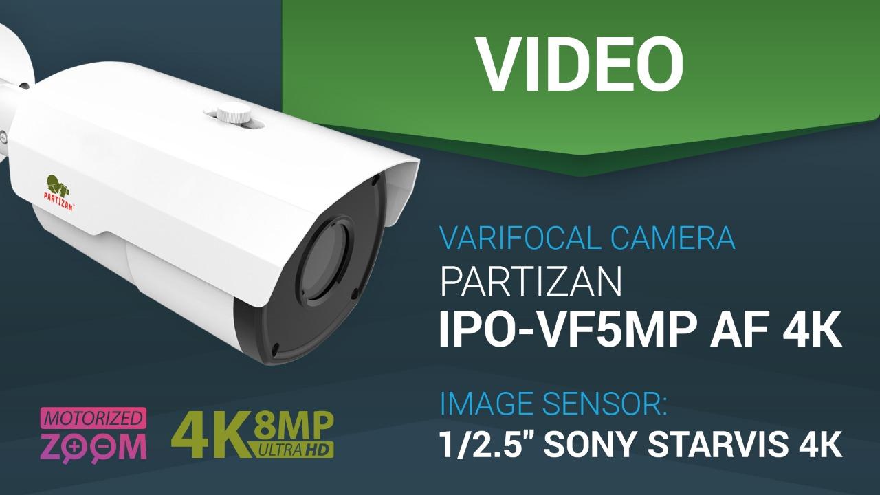 8.0MP (4K) IP varifocal CCTV camera Partizan IPO-VF5MP AF 4K