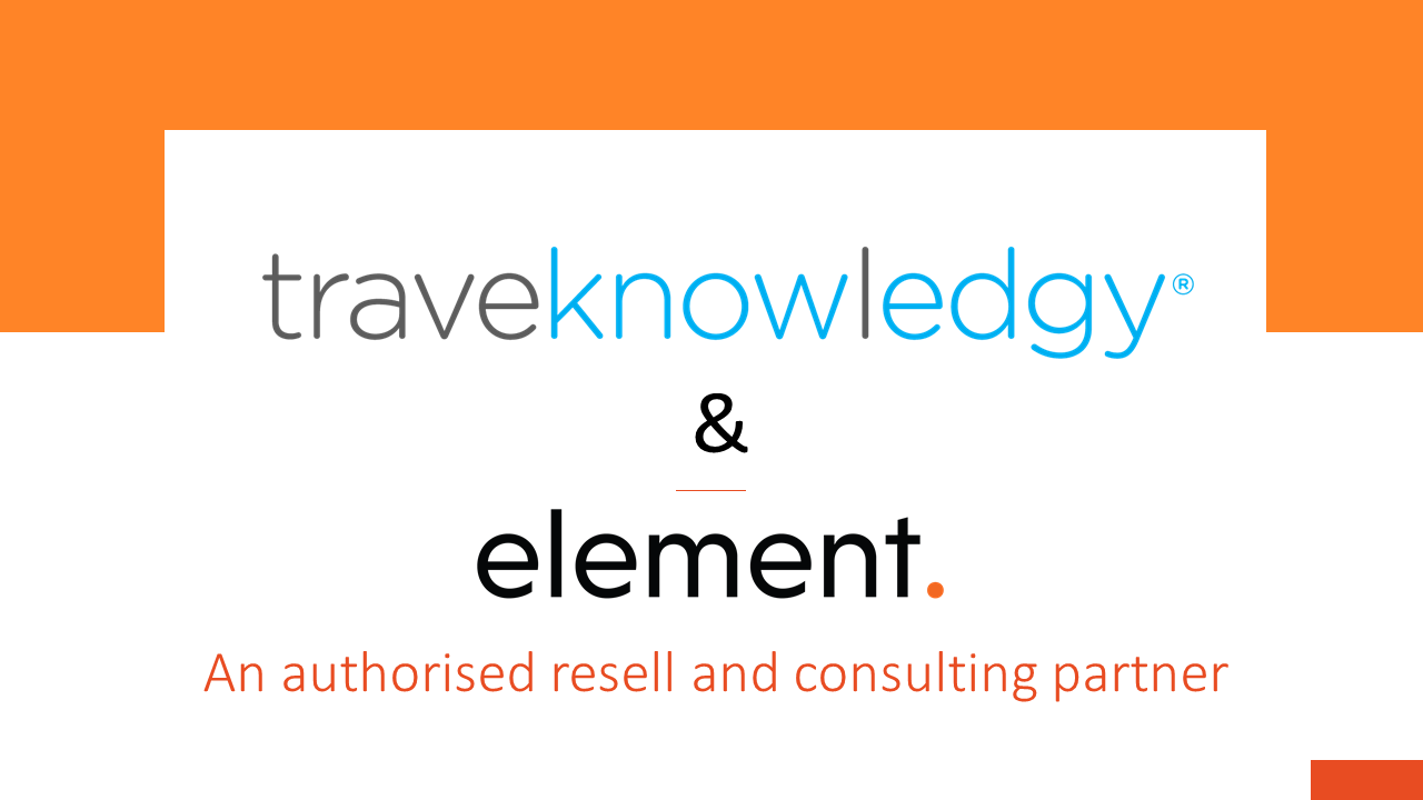 Element announces strategic reseller partnership with Traveknowledgy at this year's Travel Tech Show