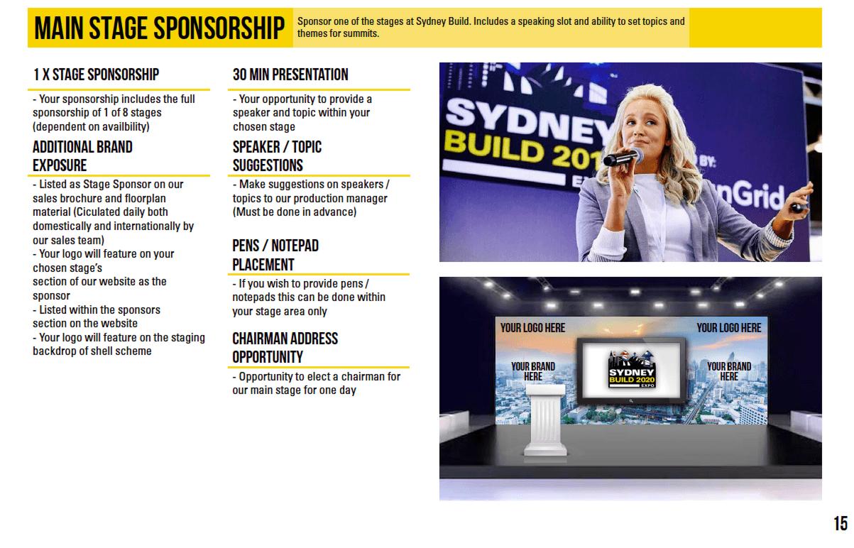 Stage Sponsorship