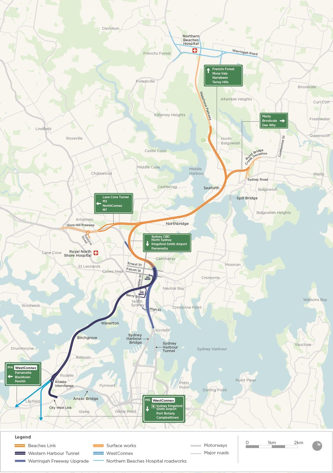 Shortlist for Western Harbour Tunnel: Bechtel, Jacobs &Laing O'Rourke