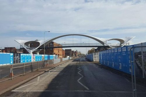A new bridge which will shape the future of Hull is now in place over the A63