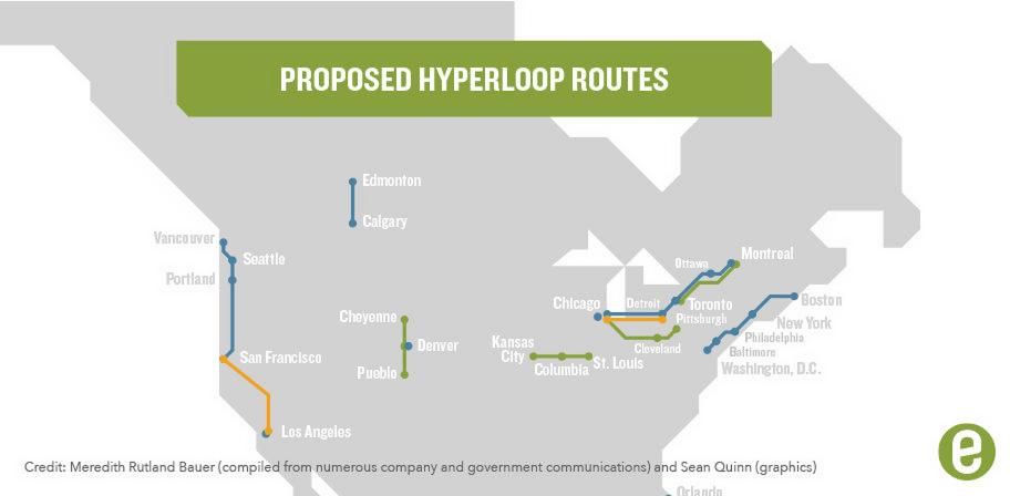 Hyperloop Routes