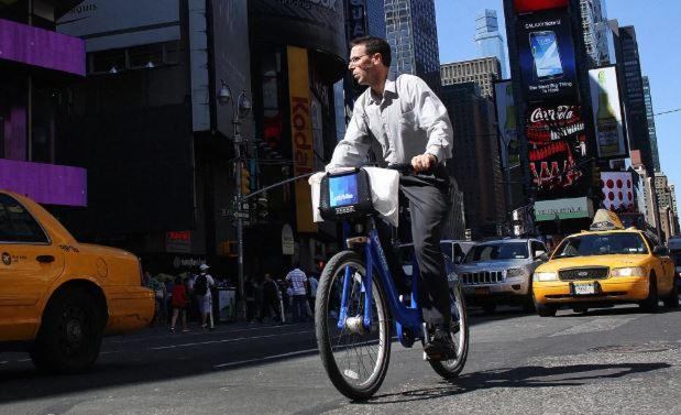 In New York, you'll now get there faster on a bike than in a cab