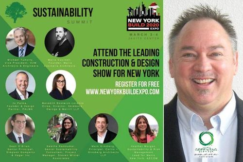 Global GreenTag CEO Chairs Sustainability Summit at New York Build Expo 2020