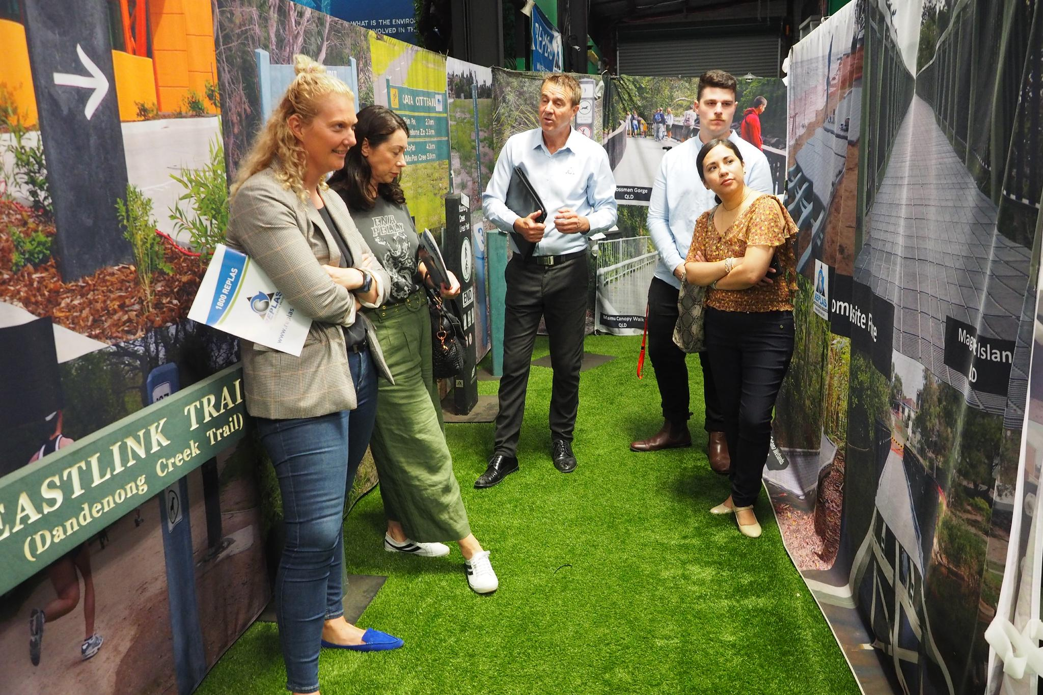Coles Head Office Take Replas Environmental Centre Tour To Discuss Recycled Plastic Products