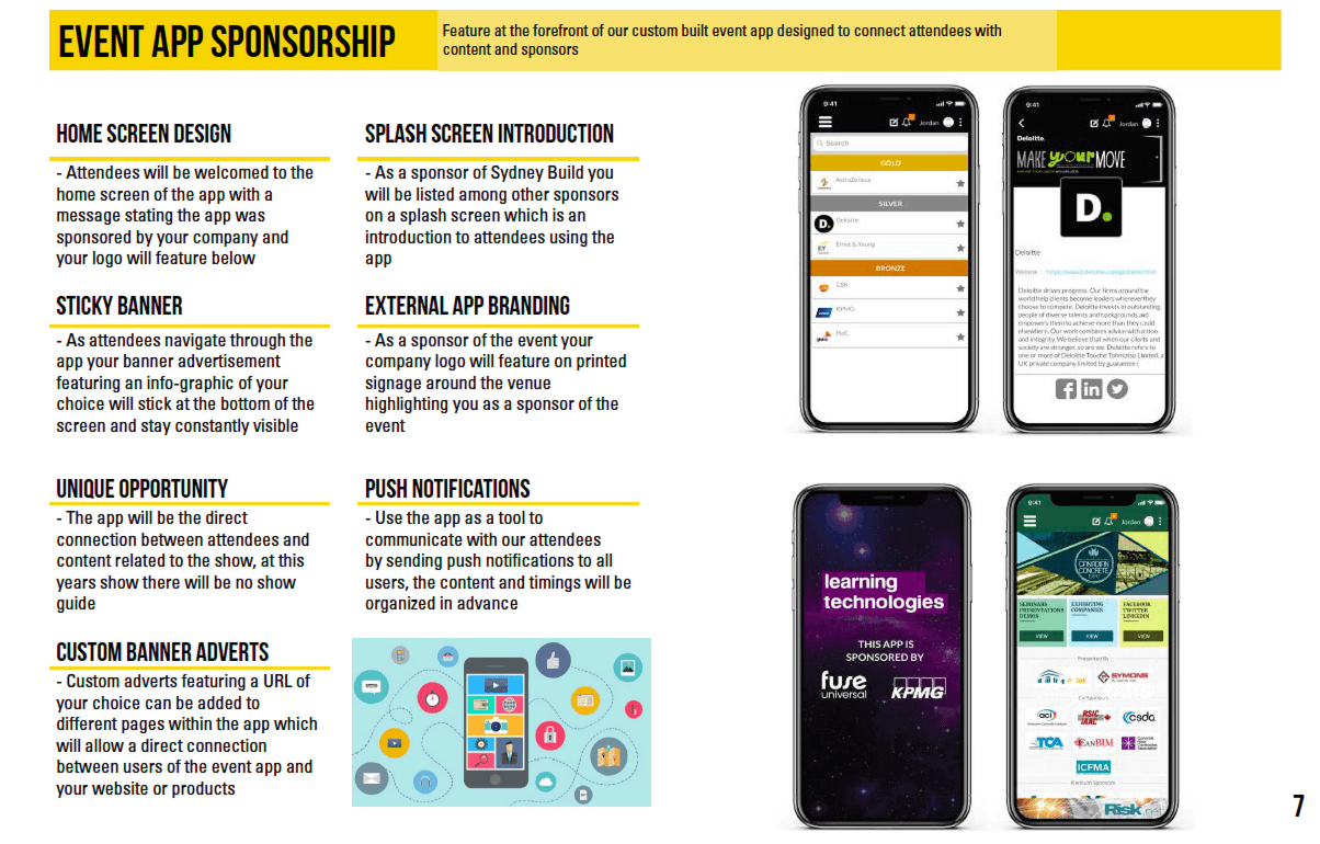 Event App Sponsorship