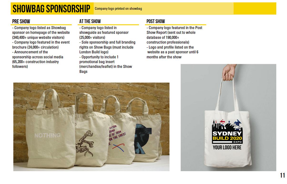 Show Bag Sponsor